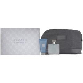 Azzaro Chrome darilni set XVIII.  toaletna voda 50 ml + gel za prhanje 50 ml + kozmetična torbica