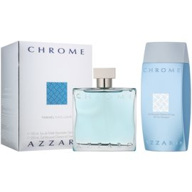 Azzaro Chrome lote de regalo XIX.  eau de toilette 100 ml + gel de ducha 200 ml