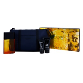 Azzaro Azzaro Pour Homme lote de regalo ХІ  eau de toilette 100 ml + bálsamo after shave 30 ml + gel de ducha 50 ml + bolsa para cosméticos