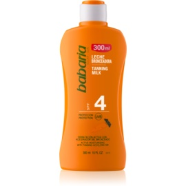 Babaria Sun Bronceadora Moisturizing Milk for Tan Enhancement SPF 4  300 ml