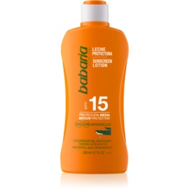 Babaria Sun Protective wasserfeste Sonnenmilch LSF 15  200 ml