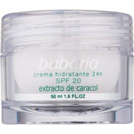 Babaria Extracto De Caracol Feuchtigkeitscreme mit Snail Extract SPF 20 50 ml