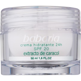 Babaria Extracto De Caracol crème hydratante à l'extrait de bave d'escargot SPF 20 50 ml