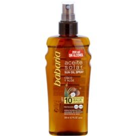 Babaria Sun Aceite Solar Sun Oil SPF 10  200 ml