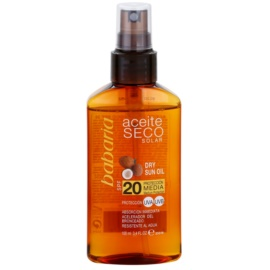 Babaria Sun Aceite Solar Dry Sun Oil SPF 20  100 ml