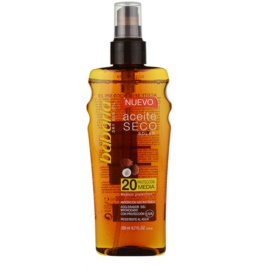 Babaria Sun Aceite Solar suchy olejek do opalania SPF 20  200 ml