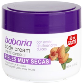 Babaria Almendras testápoló krém mandulaolajjal  250 ml