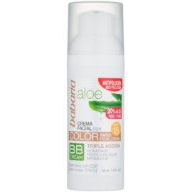 Babaria Aloe Vera crema BB  con aloe vera SPF 15  50 ml