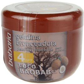 Babaria Sun Bronceador kókuszos tonizáló gél SPF 4  200 ml