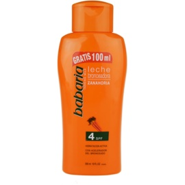 Babaria Sun Bronceadora Sun Body Lotion With Carrots SPF 4  300 ml