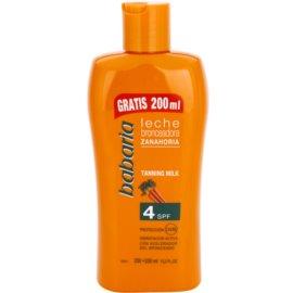 Babaria Sun Bronceador Sun Body Lotion With Carrots SPF 4  400 ml