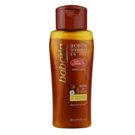 Babaria Sun Bronceador Shimmering Oil To Support The Tan  200 ml