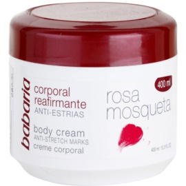 Babaria Rosa Mosqueta crema de corp pentru fermitatea pielii cu extracte de trandafiri salbatici  400 ml