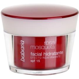 Babaria Rosa Mosqueta crema de día hidratante  con extracto de rosal silvestre  SPF 15 50 ml