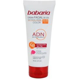 Babaria Rosa Mosqueta crema de protectie solara nuantatoare SPF 50  75 ml