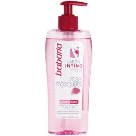 Babaria Rosa Mosqueta gel de ducha para la higiene íntima femenina con extracto de rosal silvestre   300 ml