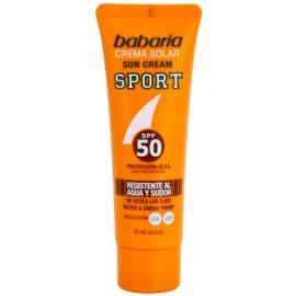 Babaria Sun Sport Sonnencreme fürs Gesicht SPF 50  75 ml