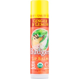 Badger Classic Ginger & Lemon balsamo labbra  4,2 g