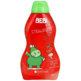 Barwa Bebi Kids Strawberry sampon és fürdőhab 2 az 1-ben  380 ml