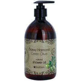 Barwa Harmony Green Olive sprchový olej bez parabenů  440 ml