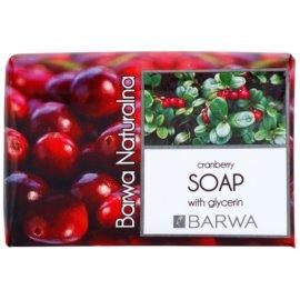 Barwa Natural Cranberry tuhé mydlo s glycerínom  100 g