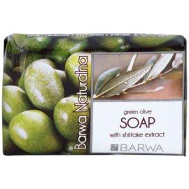 Barwa Natural Green Olive tuhé mydlo s vyhladzujúcim efektom  100 g