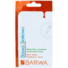 Barwa Sulphur антибактериална нормализираща маска против акне  2 x 5 мл.