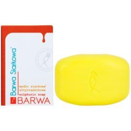 Barwa Sulphur tuhé mýdlo pro mastnou a problematickou pleť  100 g