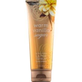 Bath & Body Works Warm Vanilla Sugar telový krém pre ženy 226 g s bambuckým maslom