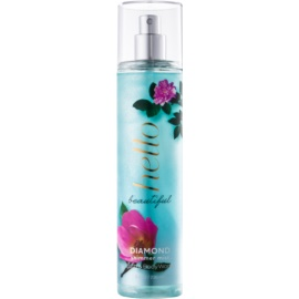Bath & Body Works Hello Beautiful tělový sprej pro ženy 236 ml  se třpytkami
