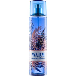 Bath & Body Works Warm Coconut Blossom testápoló spray nőknek 236 ml