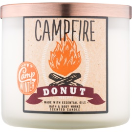 Bath & Body Works Camp Winter Campfire Donut bougie parfumée 411 g