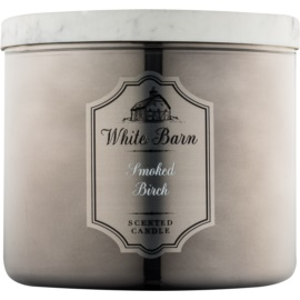 Bath & Body Works White Barn Smoked Birch candela profumata 411 g