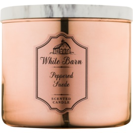 Bath & Body Works White Barn Peppered Suede świeczka zapachowa  411 g