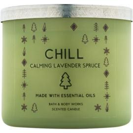 Bath & Body Works Chill: Calming Lavender Spruce candela profumata 411 g