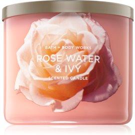 Bath & Body Works Rose Water & Ivy dišeča sveča  II. 411 g