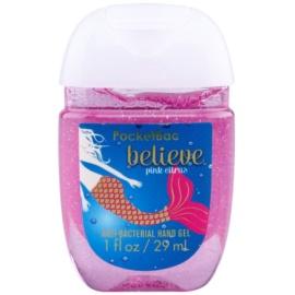 Bath & Body Works PocketBac Believe Pink Citrus gel antibacteriano para manos con purpurina Believe Pink Citrus 29 ml