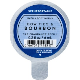 Bath & Body Works Bow Ties & Bourbon Deodorante per auto 6 ml ricarica