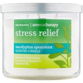 Bath & Body Works Stress Relief Eukalyptus Spearmint dišeča sveča  411 g