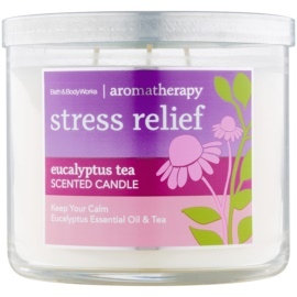 Bath & Body Works Stress Relief Eucalyptus Tea Duftkerze  411 g