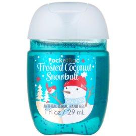 Bath & Body Works PocketBac Frosted Coconut Snowball antibakterielles Gel für die Hände  29 ml