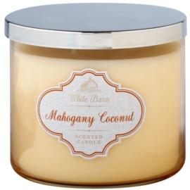 Bath & Body Works White Barn Mahogany Coconut Duftkerze  411 g