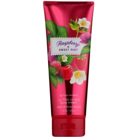 Bath & Body Works Raspberry & Sweet Mint testkrém nőknek 226 g
