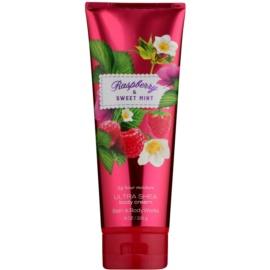Bath & Body Works Raspberry & Sweet Mint tělový krém pro ženy 226 g