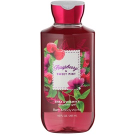 Bath & Body Works Raspberry & Sweet Mint Duschgel für Damen 295 ml