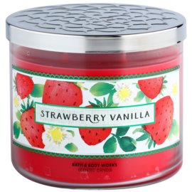 Bath & Body Works Strawberry Vanilla Duftkerze  411 g