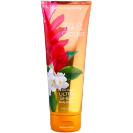 Bath & Body Works White Tea & Ginger testkrém nőknek 226 g shea vajjal