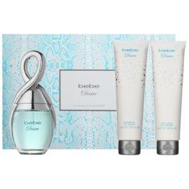 Bebe Perfumes Desire Geschenkset I. Eau de Parfum 100 ml + Körperlotion 100 ml + Duschgel 100 ml