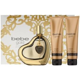 Bebe Perfumes Gold подаръчен комплект I. парфюмна вода 100 ml + мляко за тяло 100 ml + душ гел 100 ml