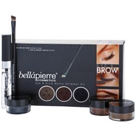 BelláPierre Eye & Brow Matte Shimmer Kit kosmetická sada I.